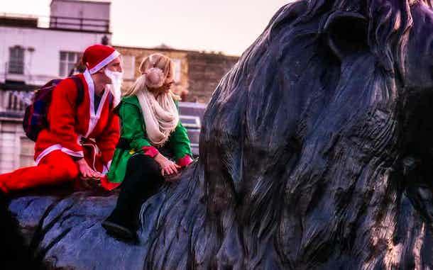 navidad en londres costumbres santas trafalgar square