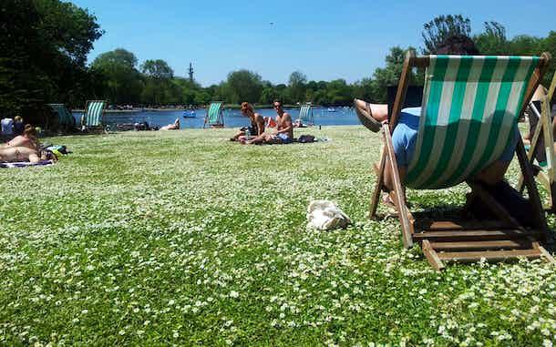 Verano en Londres: tumbonas de Regent park