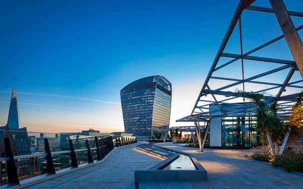 Edificios de Londres desde el mirador terraza
